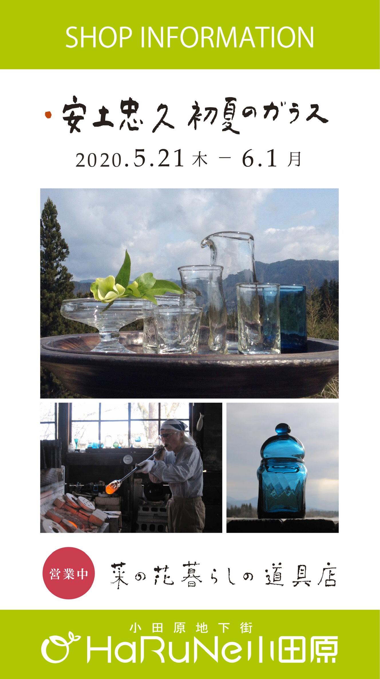 【菜の花ヴィレッジ】安土忠久 初夏のガラス